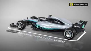 A detailed look at the Mercedes W09 F1 car