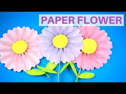 How to Make a Paper Flower   Mothers Day Craft Idea