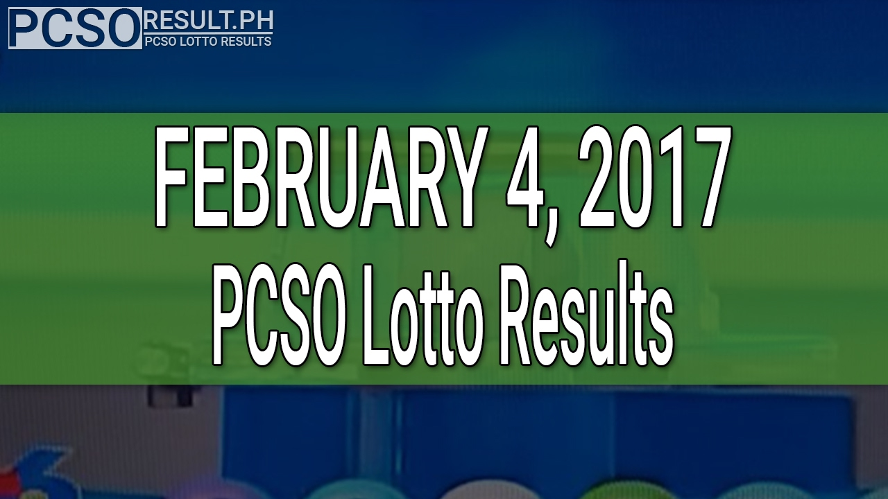 PCSO Lotto Results February 4, 2017 (6/55, 6/42, 6D, Swertres & EZ2) - YouTube