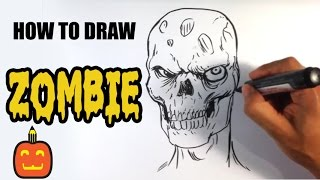How to Draw a Zombie from Walking Dead - Halloween Drawings