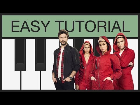Bella Ciao - Easy Piano Tutorial - Slow - Melody for Keyboard / Melodica