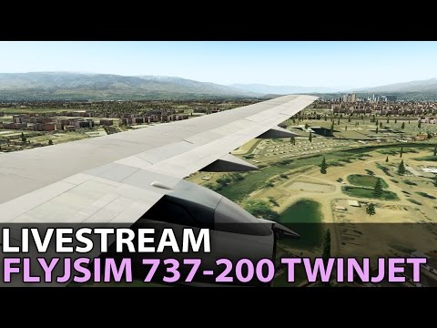 [Livestream] The Infinity Departure at Reno, FlyJSim 737-200 TwinJet on PilotEdge ✈️ 2017-01-27