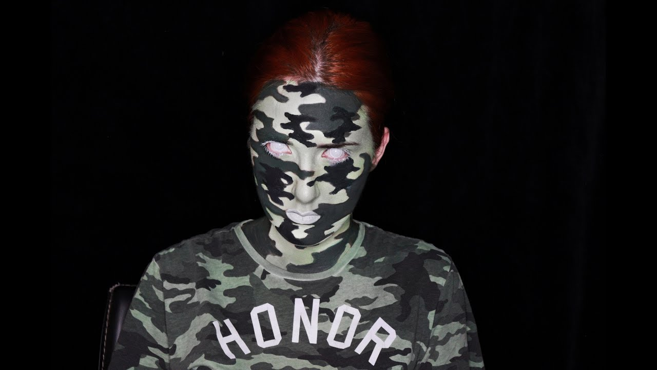Camouflage soldier body art youtube