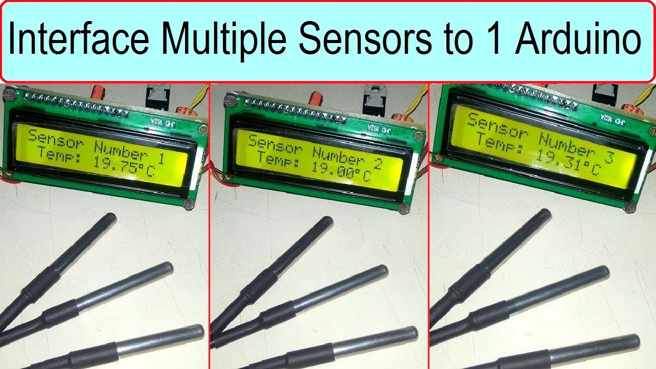 Interfacing Multiple DS18B20 Temperature Sensor to Arduino/Microcontroller