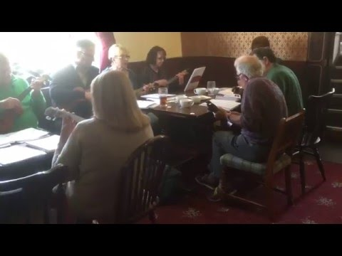 Haworth Ukulele Group at The Bay Horse Pub, Oxenhope, West Yorkshire, England - 19th April, 2016