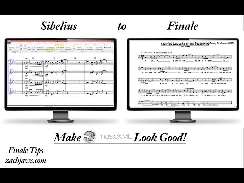 Sibelius to Finale - Making MusicXML Look Good