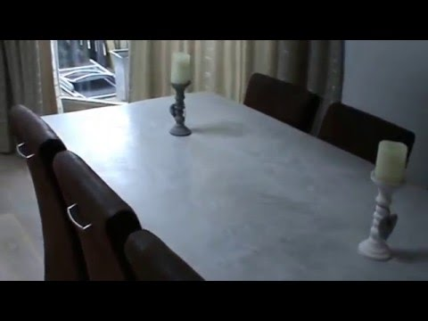 Industriele robuuste stoere betonlook tafel eettafel youtube