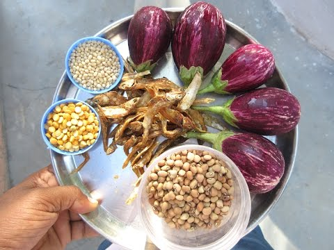 EGGPLANT, DRY FISH, COWPEA Cooking in My Village | Healthy Village Food | VILLAGE FOOD
