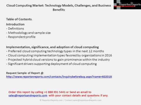 Cloud Computing Market Procurement Budget and Expenditure Outlook Analysis Report in 2016
