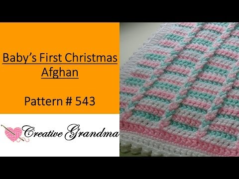Baby's First Christmas Afghan - Crochet Tutorial - Easy To Crochet