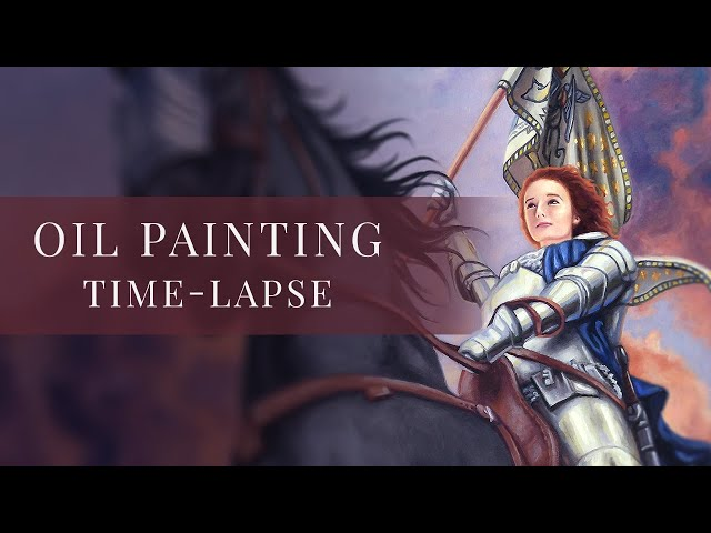 Joan of Arc » Oil Painting Time-lapse by tiSpark