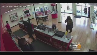 Caught On Tape: Armed Robbers Hit Verizon Store Ordering Clerks To The Floor