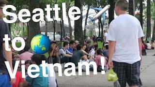 FIRST DAY IN VIETNAM! [Saigon Travel Vlog #1]   Back Alley Funniness, Chatting w/ Students