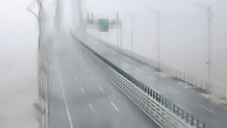 Video captures moment typhoon Mangkhut hits Hong Kong-Zhuhai-Macao Bridge