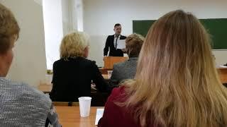 Леонид Пахомов. Защита диссертации на соискание степени кандидата филологических наук