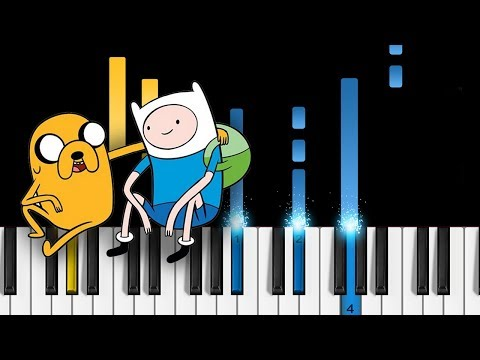 Adventure Time Ending Theme Come Along With Me  Island Song  EASY Piano Tutorial