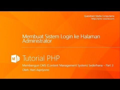 Tutorial PHP Membangun CMS Menggunakan PHP dan M ySQL Part 3 - Membuat Halaman Login Administrator