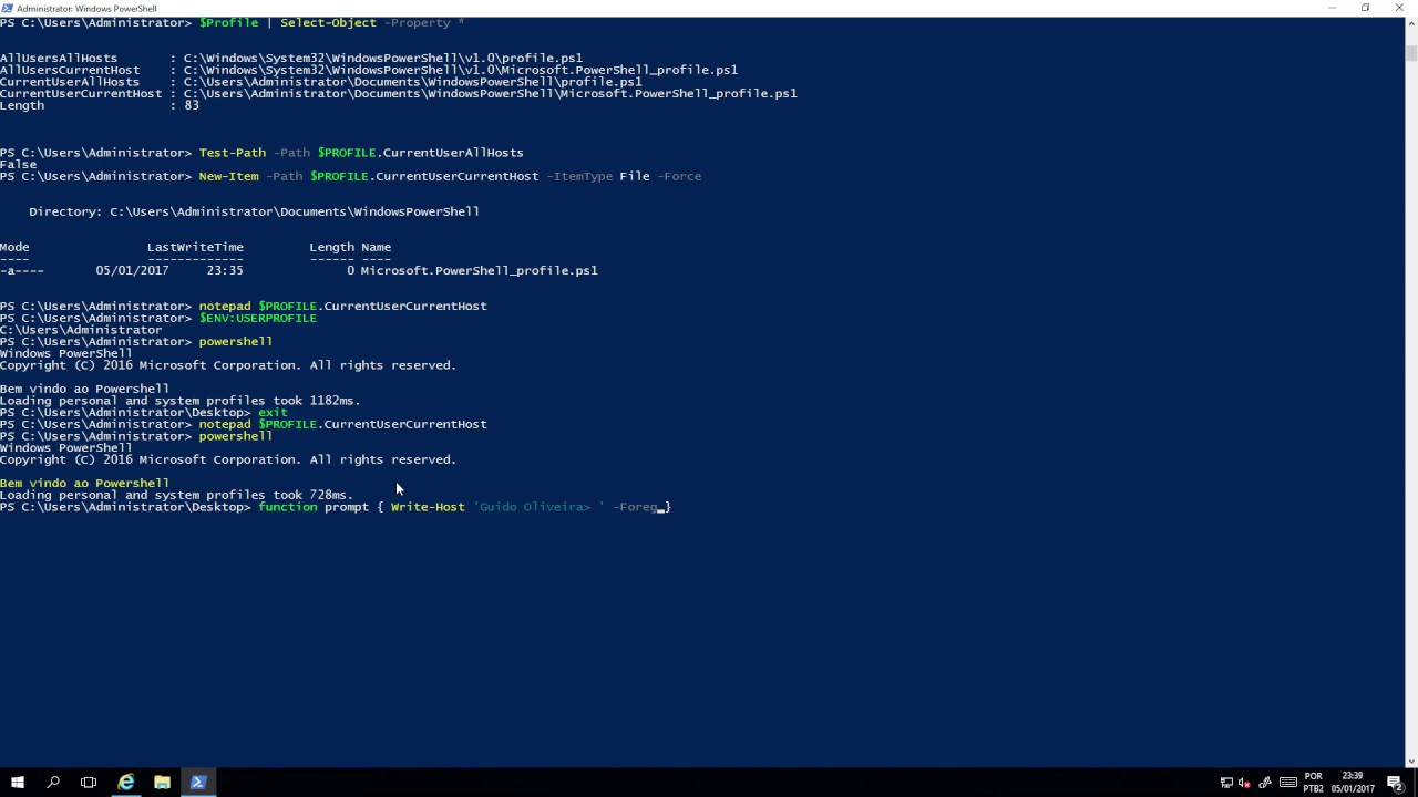 start powershell no profile dating