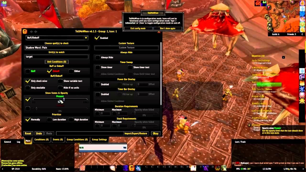 Tellmewhen Guide For Shadow Priest Dots World of Warcraft Addons