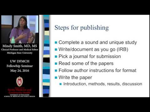 Writing for Publication with Mindy Smith, MD, MS