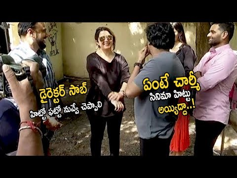 See This Lovable Conversation Between Puri Jagannadh And Charmy Kaur | Bombat First Look Launch | CC
