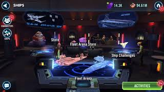 Ships Arena... Gear 12 Tarkin and Omega ability plus battle for 1st