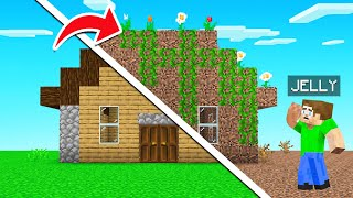 Trolled BEST FRIEND With A DIRT HOUSE MAKEOVER! (Minecraft)