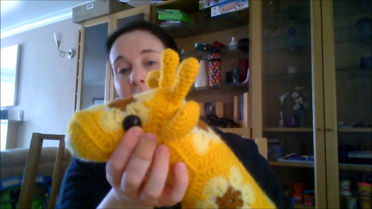 Amigurumi Heidi Yapilisi : Finished African Flower Giraffe - YouTube