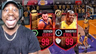 FINALS 99 OVR CURRY & 99 OVR SHAQ DOMINATING! NBA Live Mobile 16 Gameplay Ep. 123