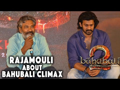 SS Rajamouli About Climax War Sequence at Baahubali - The Conclusion | Official Press Meet