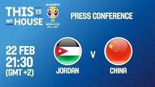 Jordan v China - Press Conference - FIBA Basketball World Cup 2019 Asian Qualifiers