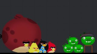 Angry Birds destroy the fortresses with the Pigs / Angry Birds mod in People Playground (6)