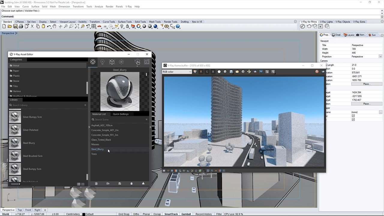 Intro for Architects to V-Ray for Rhino QuickStart - V-Ray 3 6 for