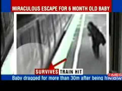 (VIDEO) A 6 Month Old Baby Miraculously Survives Death After Being Hit By A Train.!