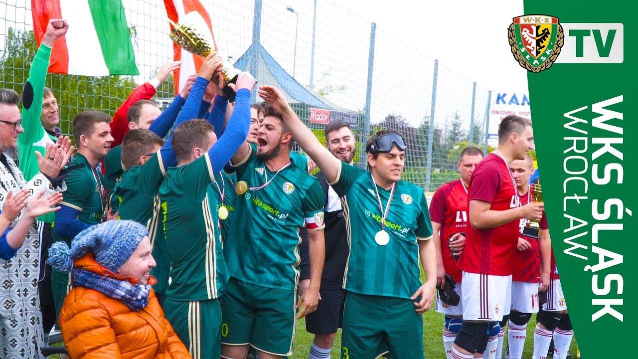 Puchar Polski dla Blind Football Śląsk Wrocław - YouTube
