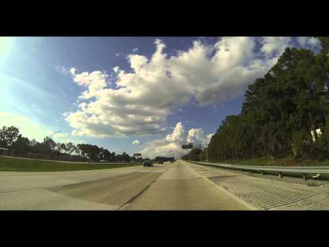 Northbound On I-275 From North Skyway Fishing Pier To Hwy 686 In St. Pete, FL In 4K (2015-05-25)