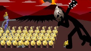 100 NEW Golden Speartons vs INSANE Mode Final Boss | Stick War Legacy