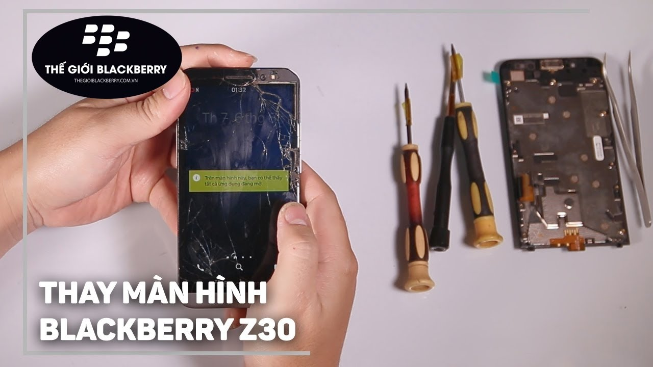 Image result for thay màn hình blackberry z30