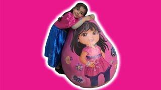 ANNA OPENS GIANT DORA THE EXPLORER SURPRISE EGG | Kinder Eggs | Princesses In Real Life | Kiddyzuzaa