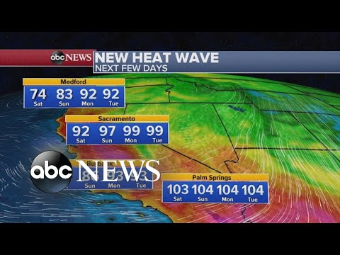 Heat wave, gusty winds expected in the West sparking fire weather watch