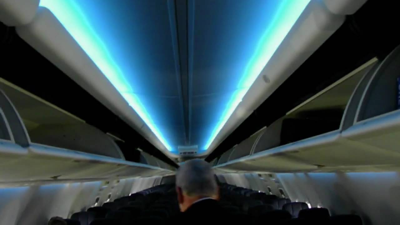 HD New Boeing Sky Interior!!! Continental Airlines 737 800 Boeing   YouTube
