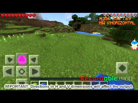【Android】Minecraft Building, Show Coords, Direction & Measure Mod by Xmodgames