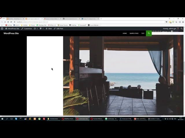 WordPress : Making a slider with ACF (Part 1)