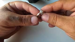 Обзор кольцо с бриллиантом 0.35ct 2 сентября 2017г.