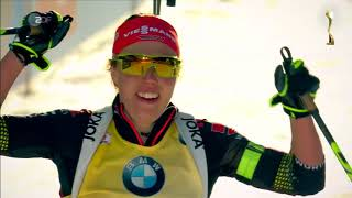 Laura Dahlmeier ganz oben - nicht nur beim Biathlon