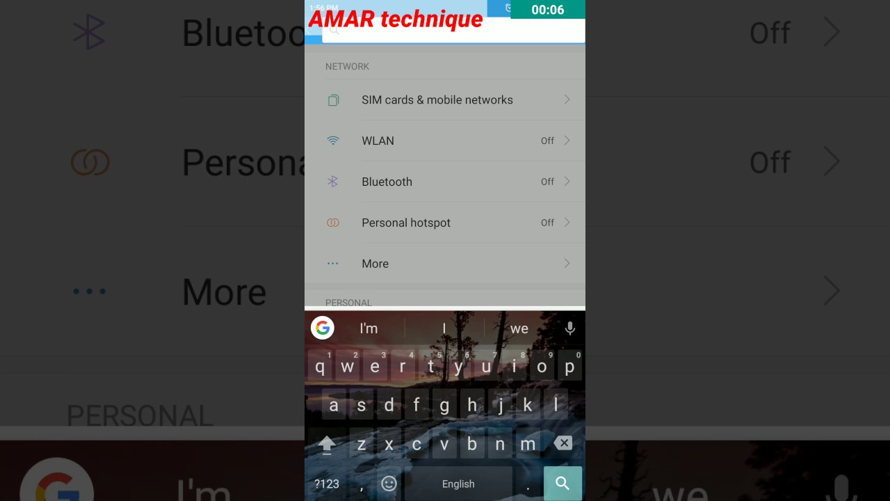 How to change Android to iso 10