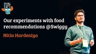 Our experiments with food recommendations @Swiggy