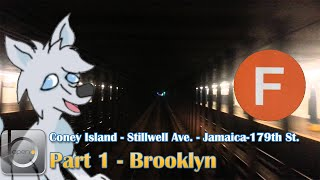 OpenBVE: NYCT Ⓕ Coney Island/Stillwell Ave. - Jamaica/179th St. - Part 1 (Brooklyn)