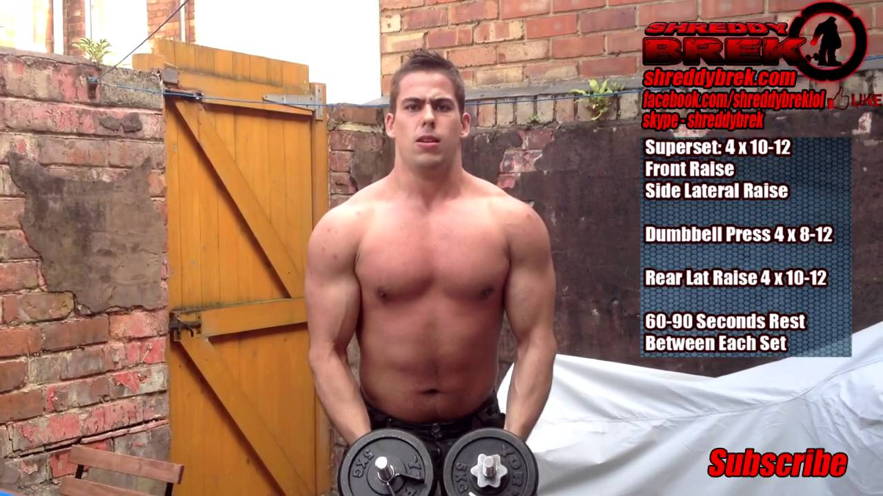 Best Dumbbell Workout My Intense Home Shoulder Workout To Build