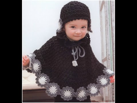 crochet patterns| for free |crochet baby poncho| 36 - YouTube